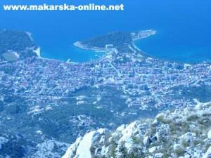 Makarska from Vošac