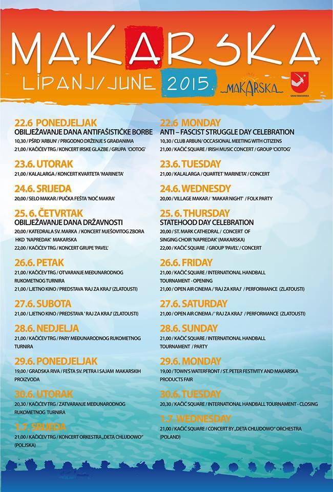 Makarsko Ljeto 22.06-01.07.2015.
